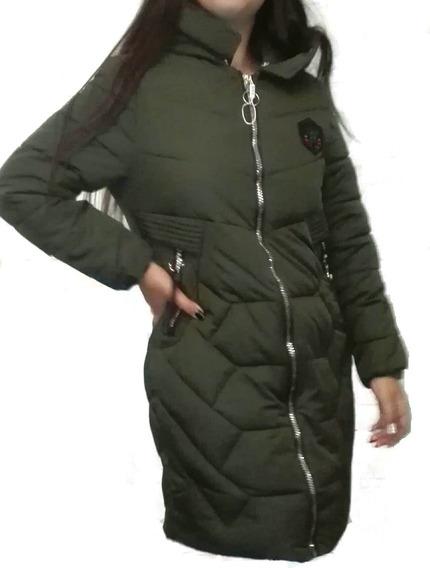 Parka Chaqueta Mujer Larga Modelo Tipo Gucci Talla 40 A 48