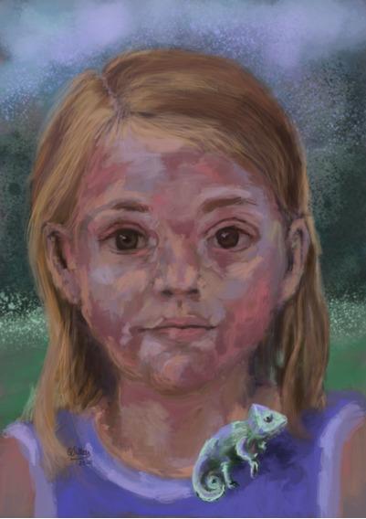 Retrato Personalizado Persona O Mascota Pintura Digital Oleo