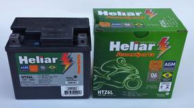 Bateria Moto Heliar Titan / Fan / Bros/ Xre/ Ybr Factor Htz6
