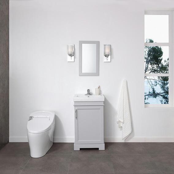 Tocador/lavabo Con Espejo Gris Br Home Decorators Collection