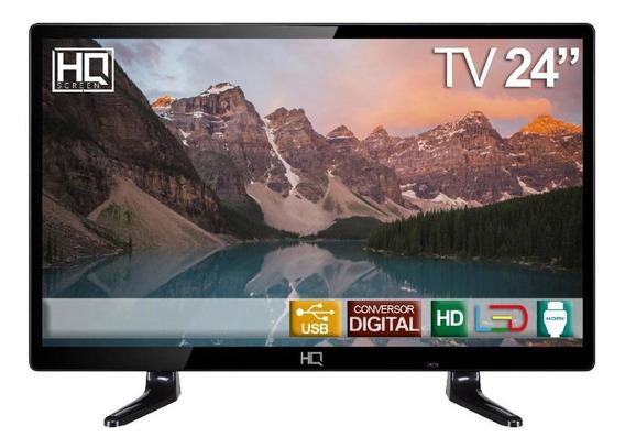 Tv Monitor Led 24 Hq Conversor Digital Hdmi Usb - Hqtv24