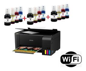 Multifuncional Epson L3150 Wi-fi C/ 12 Refil + 100 Fls Foto