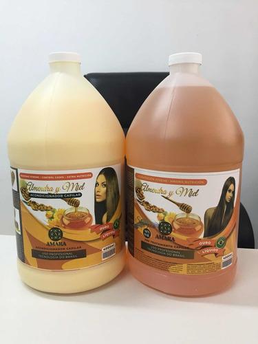 Shampoo Y Acondicionador De Almendra Sin Sal En Galon