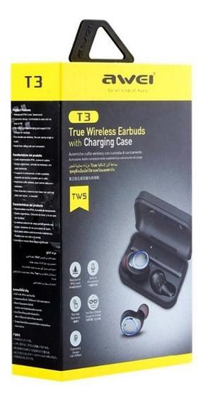 Fone De Ouvido Awei Tws T3 Sport Bluetooth Intra Auricular