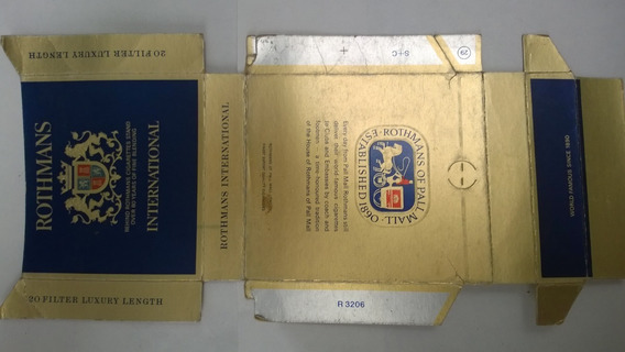Caja De Cigarrillo Rothmans International De Brasil