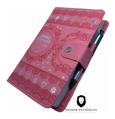 Bíblia Carteira Grande  - Letra Gigante - Rosa
