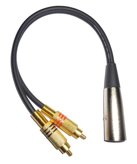 Cable Canon Xlr A 2 Rca Macho 20 Cm Profesional