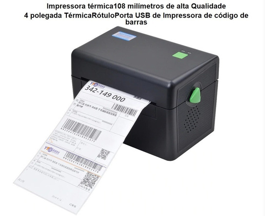 Impressora De Etiquetas Térmica Correio Mercado Envios 108mm