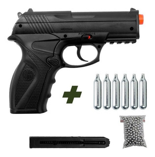 Pistola De Pressão Rossi C11 4,5mm Co2 Airgun + 6 Co2 + 500