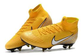 Chuteira Nike Mercurial Superfy 6 Elite 360 Sg Yellow Origi.