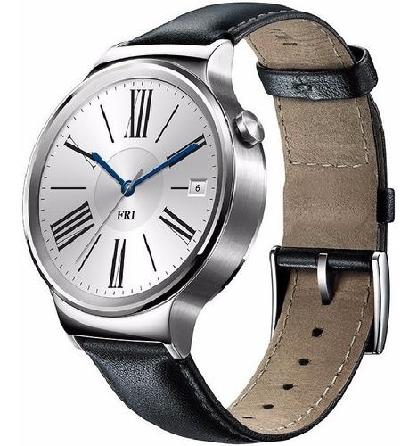 Huawei Watch 1 Acero Inoxidable Correa De Cuero Negro