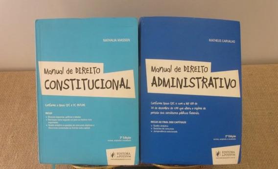 Série 2 Livros Manual De Direito Constitucional E Administra