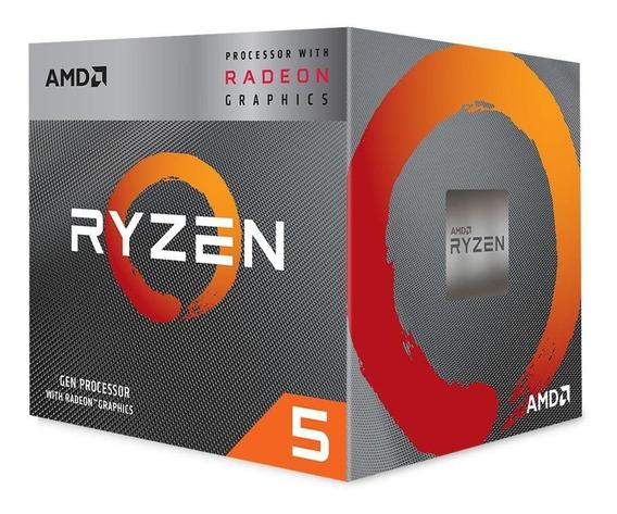 Processador Am4 Ryzen 5 3400g, Cache 4mb, 3.7ghz (4.2ghz Max