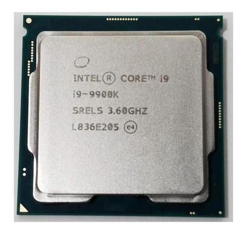 Processador gamer Intel Core i9-9900K CM8068403873914 de 8 núcleos e 3.6GHz de frequência com gráfica integrada