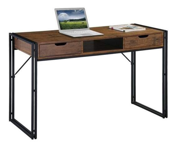 Escrivaninha Wooden Marrom E Preta