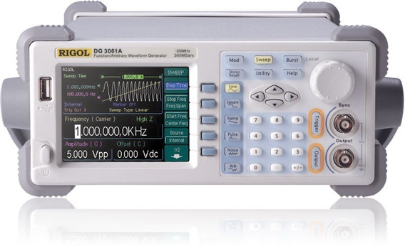 Rigol Dg3061a Generador Funciones Rf