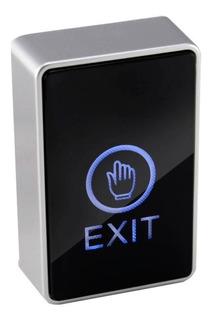 Boton Pulsador De Salida Touch Led Luminoso Control Accesos