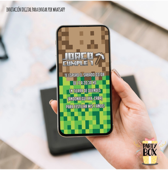 Kit Imprimible Personalizable Cumple Minecraft