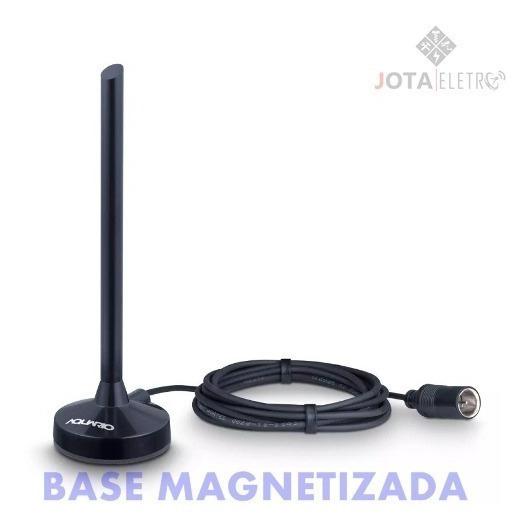 Antena Digital De Tv Aberta Aquário Vhf Uhf Fm Hdtv Dtv-100p