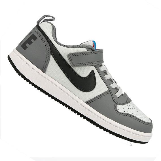 Tênis Nike Infantil Court Borough L Cinza 870025006 Original