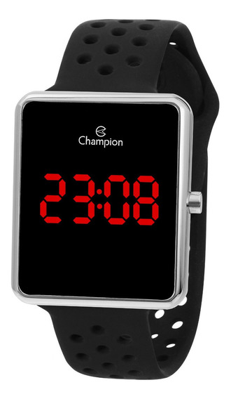 Relógio Champion Feminino Ch40081t Digital Quadrado Prata