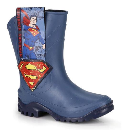 Bota Galocha Infantil Liga Da Justiça Superman Grendene