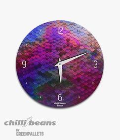 Relógio De Parede Chillibeans - Escama De Peixe