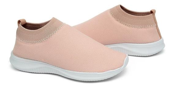 Tenis Feminino Calce Facil Conforto Sapato Sapatenis Meia