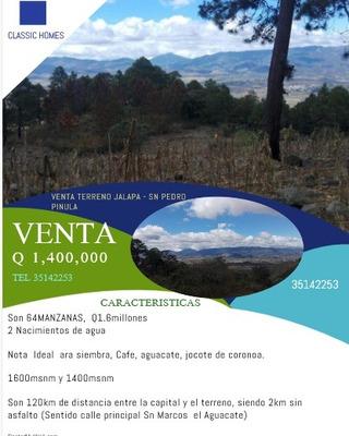 Venta De Terreno En San Pedro Pinula . Jalapa