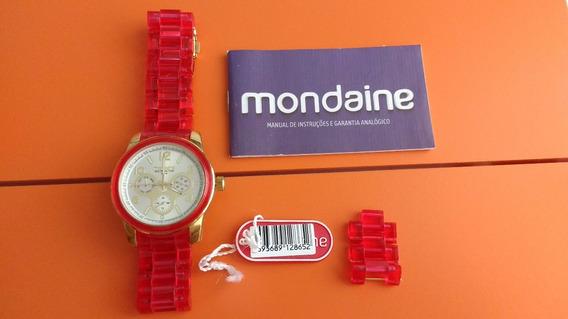 Relógio Original Mondaine Unissex Dourado Moderno E Estiloso
