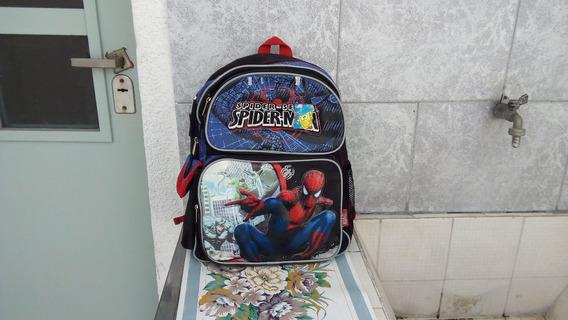 Mochila Espalda Niños Spiderman En Buen Estado