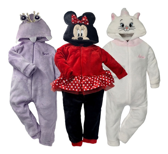 Kit 3 Mamelucos Disney Marie, Minnie, Boo A Precio 2