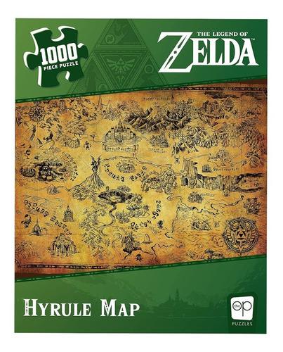 Imagen 1 de 2 de Legend Of Zelda Hyrule Map Rompecabezas 1000 Piezas