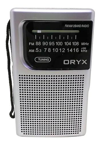 Radio Portable Retro Oryx Am/fm Bolsillo A Pila Con Parlante