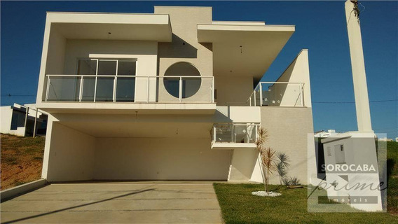 Sobrado Com 3 Dormitórios À Venda, 209 M² Por R$ 600.000 - Condomínio Villagio Milano - Sorocaba/sp. - So0017