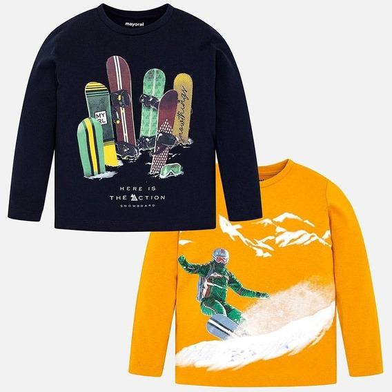 Set Camisetas Manga Larga Dibujos Niño Mayoral