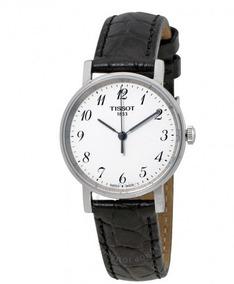 Relógio Tissot Feminino Everytime Preto/cinza/branco Couro