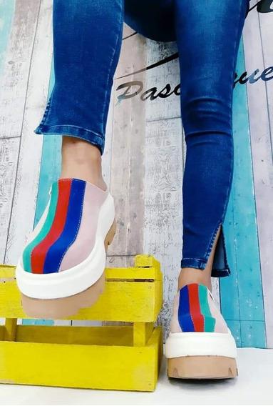 Zapatillas-suecos De Mujer