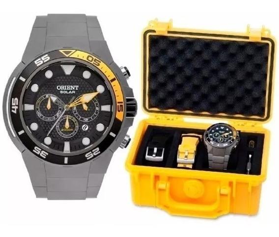 Relógio De Luxo Orient Masculino Alta Resistência De Titânio