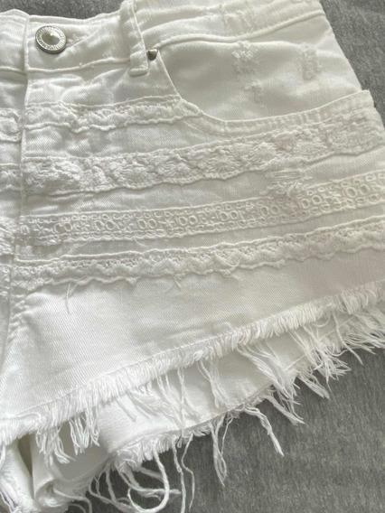 Short Zara Bershka Xs Blanco