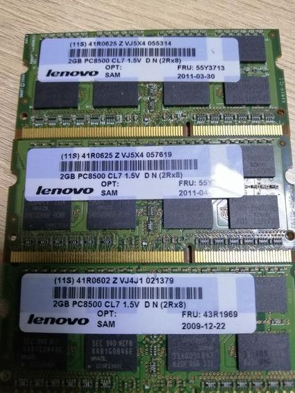Memoria 2gb 2rx8 Pc3-8500s -07-10-f2