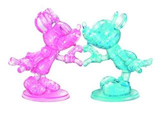Puzle De Cristal 3d Disney De Lujo Diseño De Minnie Y Micke