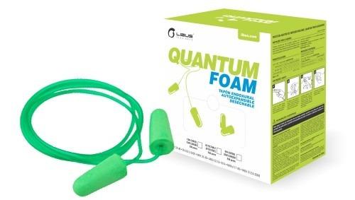 Tapón Auditivo Libus Quantum Foam Con Cordón -caja 250 Pares