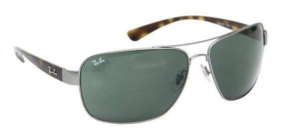 Óculos Sol Masculino Grande Ray Ban 3567 + Limpa Lentes