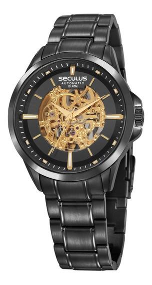 Relógio Masculino Seculus Preto Automático 20754gpsvpa1
