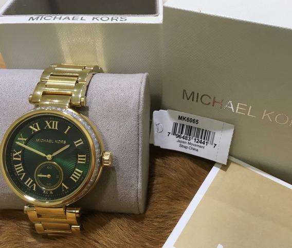Relógio Michael Kors Mk6065 Dourado Original Novo/promoção