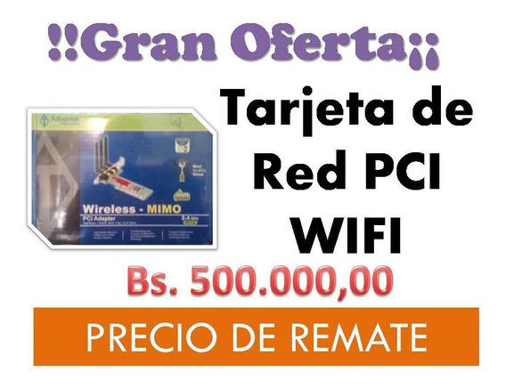 Tarjeta Pci Wifi Wireless-mimo 2.4 Ghz