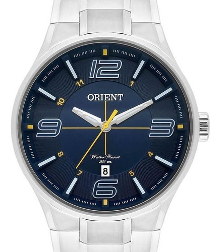 Relogio Orient Masculino Aço - Mbss1307 D2sx