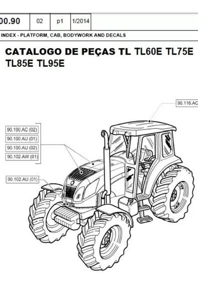 Catalogo De Peças Trator New Holland Tl60e Tl75e Tl85e Tl95e