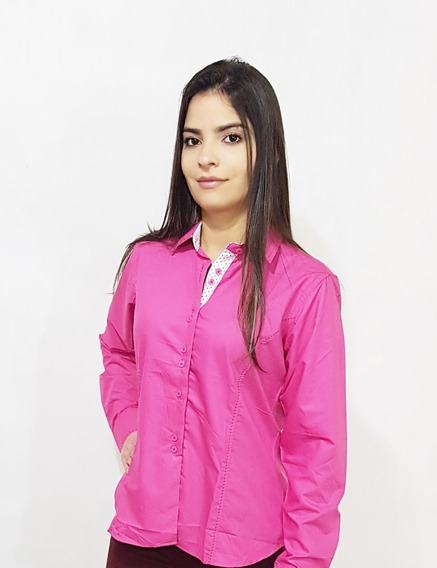 Kit 2 Camisa Social Feminina Slim Fit Do 36 Ao 48